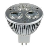 Foco LED Empotrable 3W 3 x 1W MR16