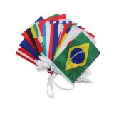 100 countries Rectangle String Flag 32m Lenght (20 x 30cm)