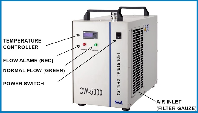 (1931) CW-5000AG Water Chiller for Single 120W CO2 Laser Tube Cooling AC details2